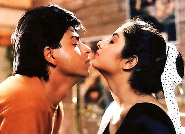 Shahrukh khan and Divya Bharti