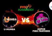 U Mumba vs Jaipur Pink Panthar