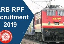 RRB RPF Recruitment 2019