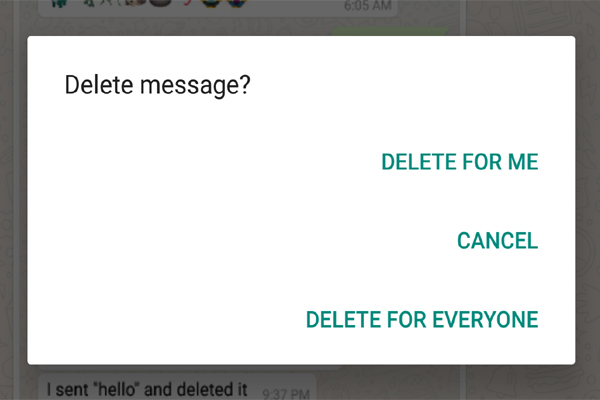 How to see whatsapp delete message on android