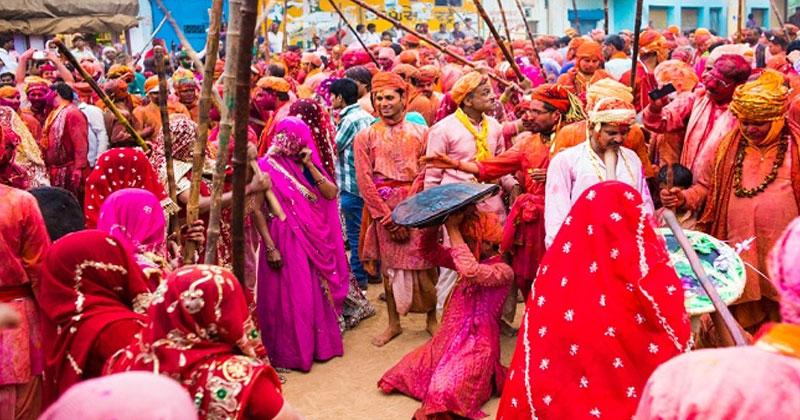 Lathmar Holi at Barsana