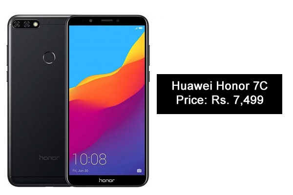 Huawei Honor 7C-Best Camera SmartPhones Under 10000 Rupees