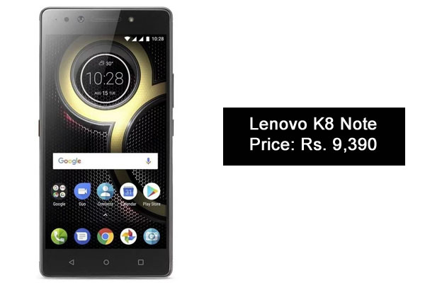 Lenovo K8 Note-Best Camera SmartPhones Under 10000 Rupees