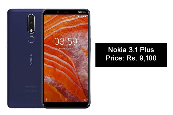Nokia 3.1 Plus-Best Camera SmartPhones Under 10000 Rupees