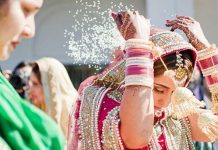 throwing rice at weddings indian