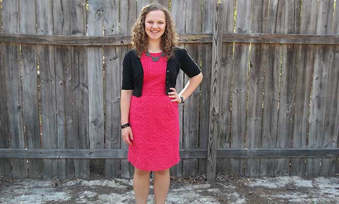 black and pink color combination clothes