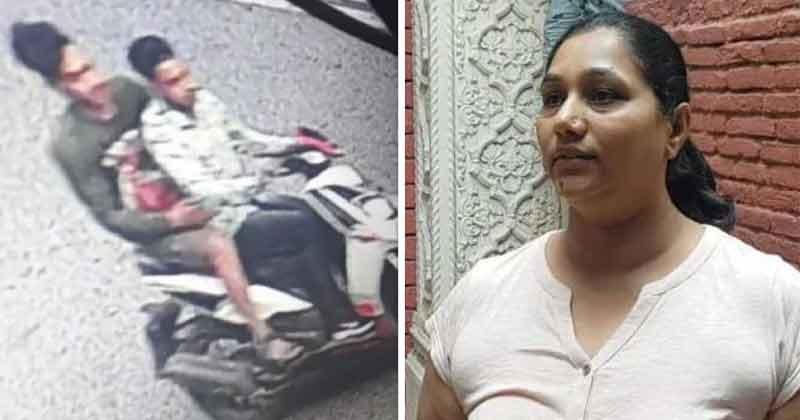 pm modi niece bag snatched in front of gujarat samaj bhawan