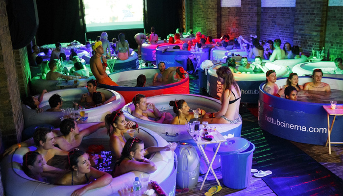 Hot tub theatre