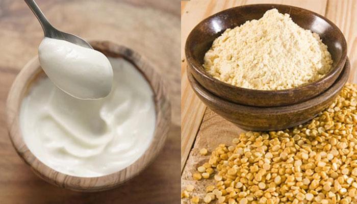 besan and mayonnaise hair mask
