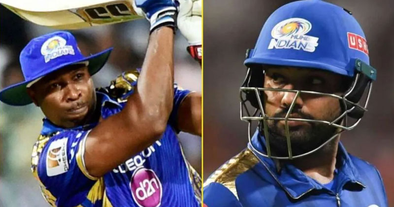kieron pollard unfollows rohit sharma on twitter