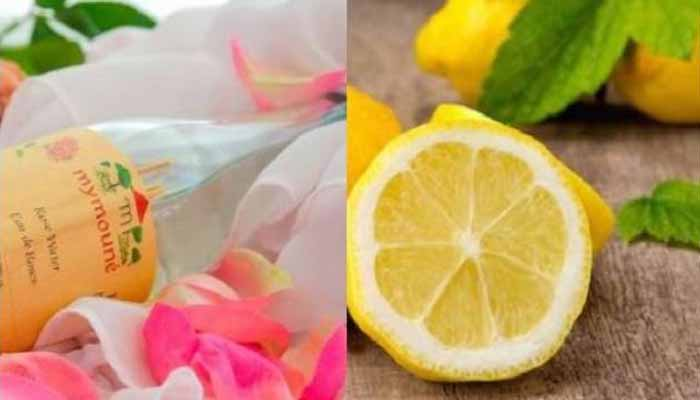 rose water and lemon