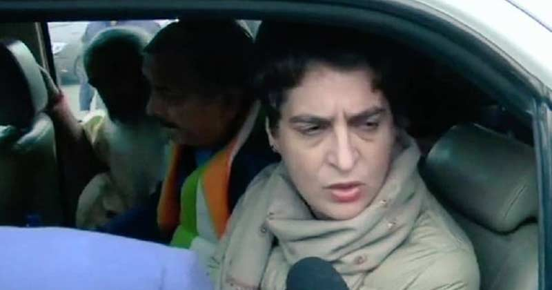 priyanka gandhi challan for violating traffic rules