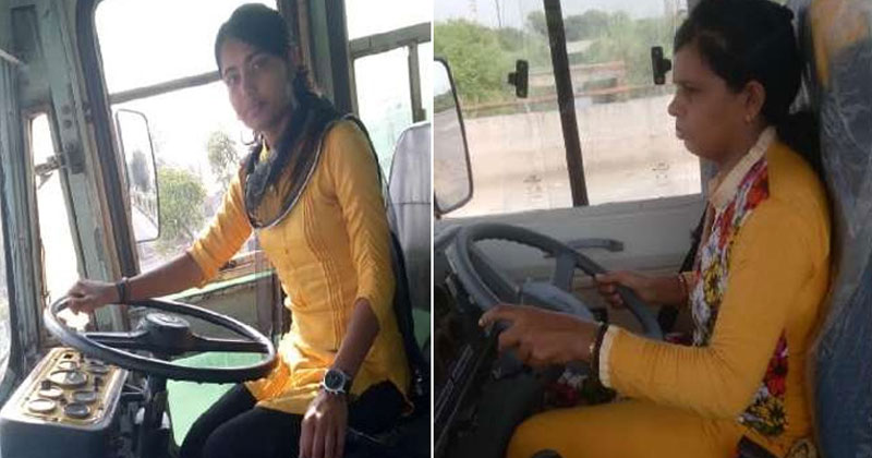 rohtak sisters drive school bus