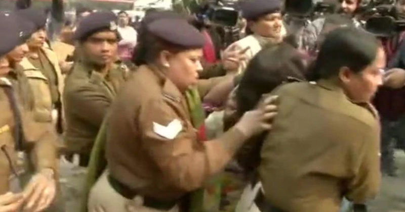 woman daughter demonstrating against unnao case was set on fire