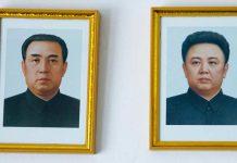 North Korean mother facing jail saving children fire instead portraits Kim family