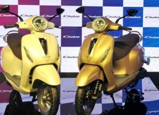 bajaj chetak electric scooter india launch price battery features
