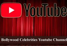 bollywood celebrities youtube channel