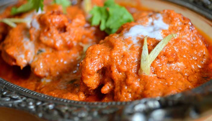 butter chicken garnish