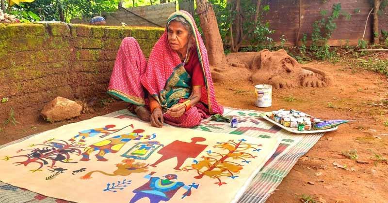 Eighty Year Old Woman Artist From Madhya Pradesh