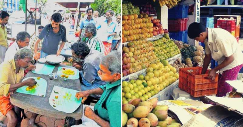 Kerala Fruit Seller Free Food Poor Homeless Inspiring Hero India