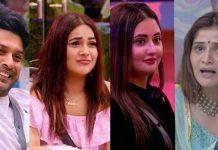 bigg boss 13 left contestants