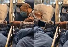 elderly couple suffering from coronavirus in china says goodbye to each other