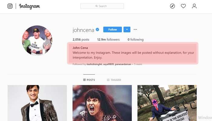 john cena instagram