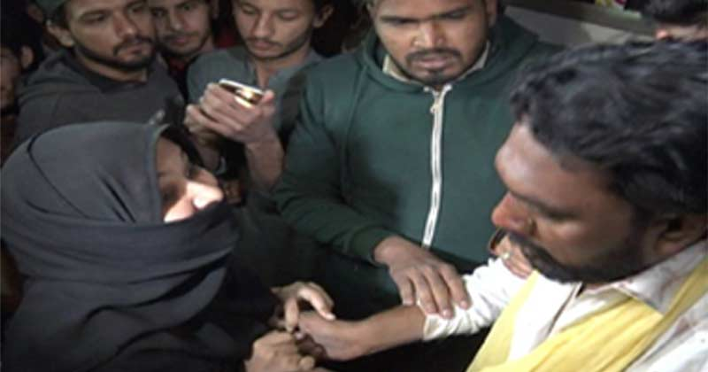 karachi groom beaten by first wife for third marriage