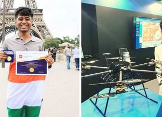 nm prathap built over 600 drones from e waste won gold medal
