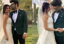 paras chhabra and mahira sharma in wedding attire
