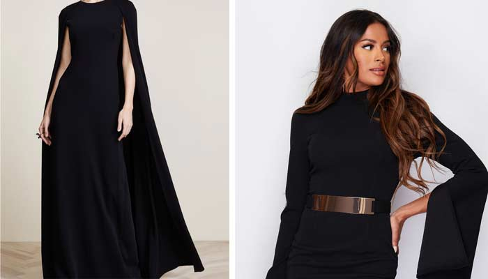 cape dress with sleeves
