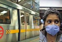 corona virus delhi metro no standing passengers left