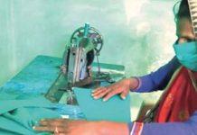 madhya pradesh women took a task of making masks for rs 10