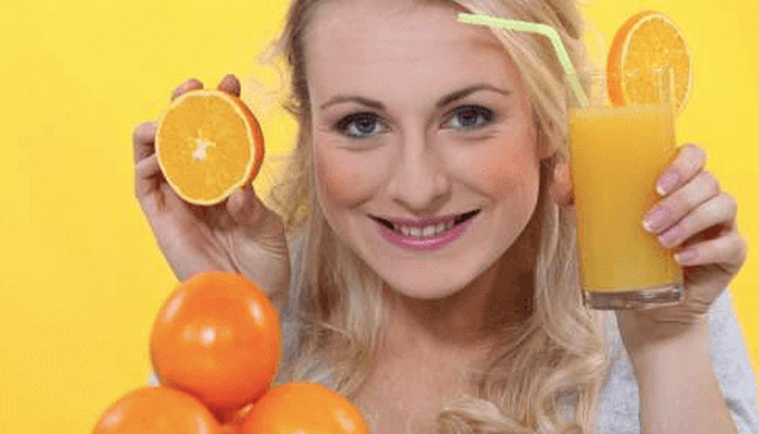 orange juice for glowing skin