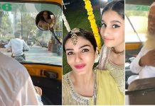 raveena tandon reached at her niece wedding by auto