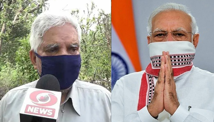 74 year old man distributed over 6000 mask
