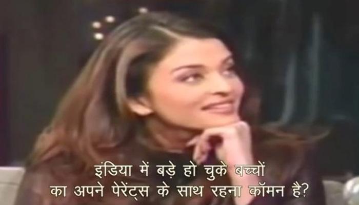 aishwarya rai roasted on american anchor raised questions on indian