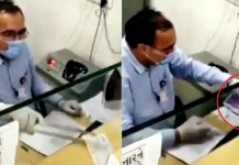 bank cashier who kill coronavirus from iron video