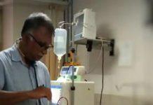 doctor feeding food to coronavirus patient photo viral