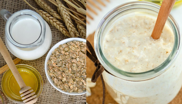 milk and oatmeal scrub