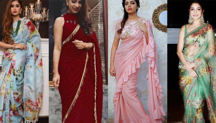 saree according to trends
