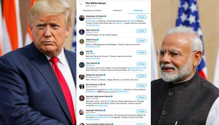 white house unfollowed PM Modi