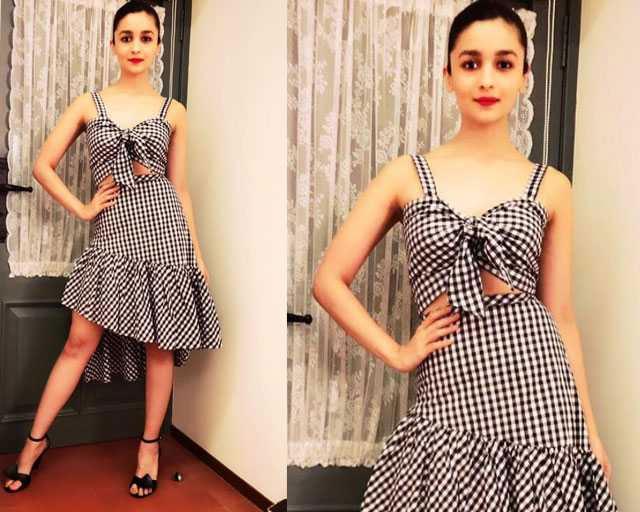 Alia Bhatt In Gingham Dress
