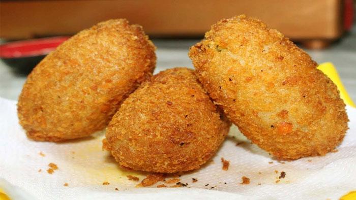 Egg potato cutlet