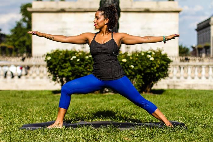 Yoga in morning