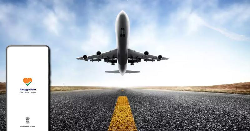 aarogya setu mandatory for flight travel