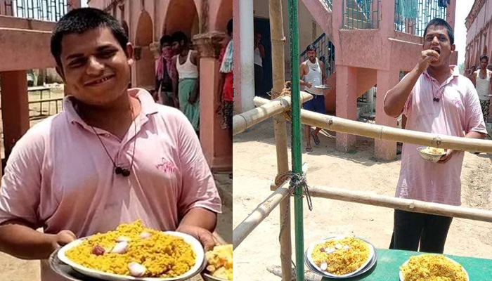 bihar man eats 40 rotis and 10 plates of rice