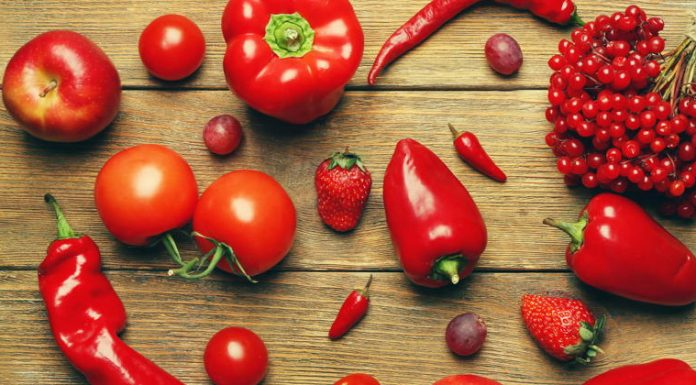health benefits of red fruit and veg