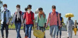 migrant workers gather at jaipur ajmer highway amid lockdown