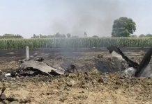 punjab iaf fighter jet mig 29 crashes